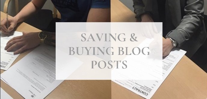 saving and buying blog posts